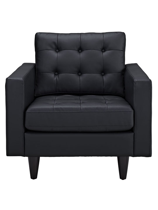 Black Leather Bedford Armchair 2