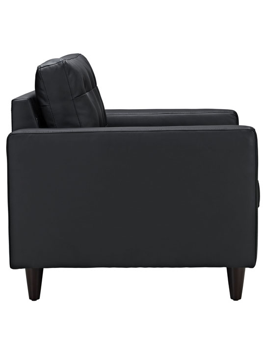 Black Leather Bedford Armchair 3
