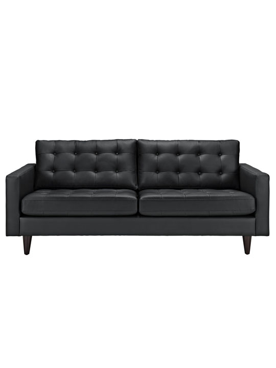 Black Leather Bedford Sofa 2
