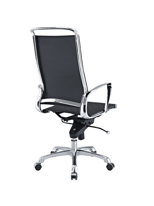 Black Leather Coco High Back Office Chair 2