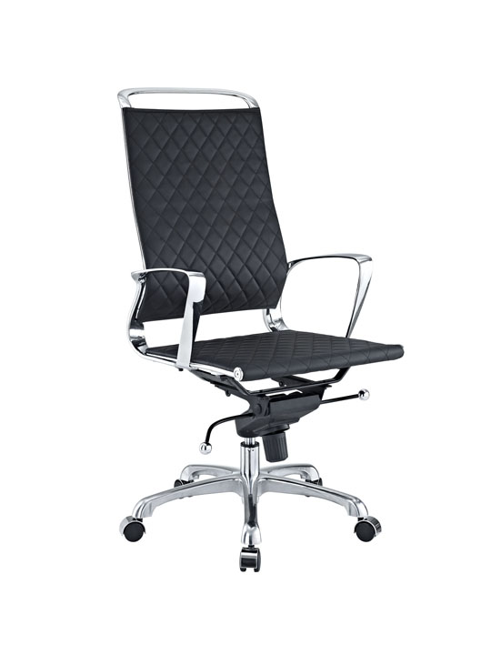 Black Leather Coco High Back Office Chair 3