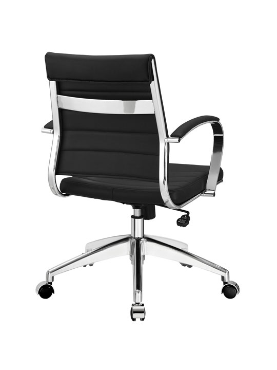Black Leather Instant Operator Low Back Office Chair 3