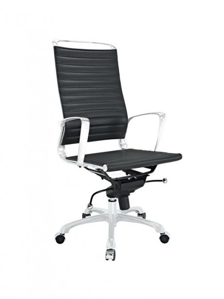 Black Leather Instant Planner High Back Office Chair 461x614