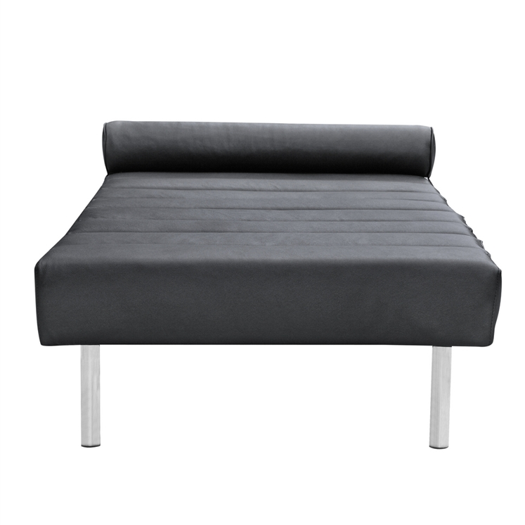 Black Leather King Stretch Bench 2