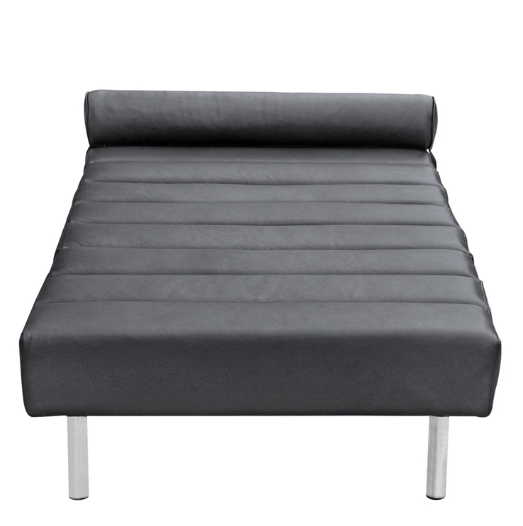 Black Leather King Stretch Bench
