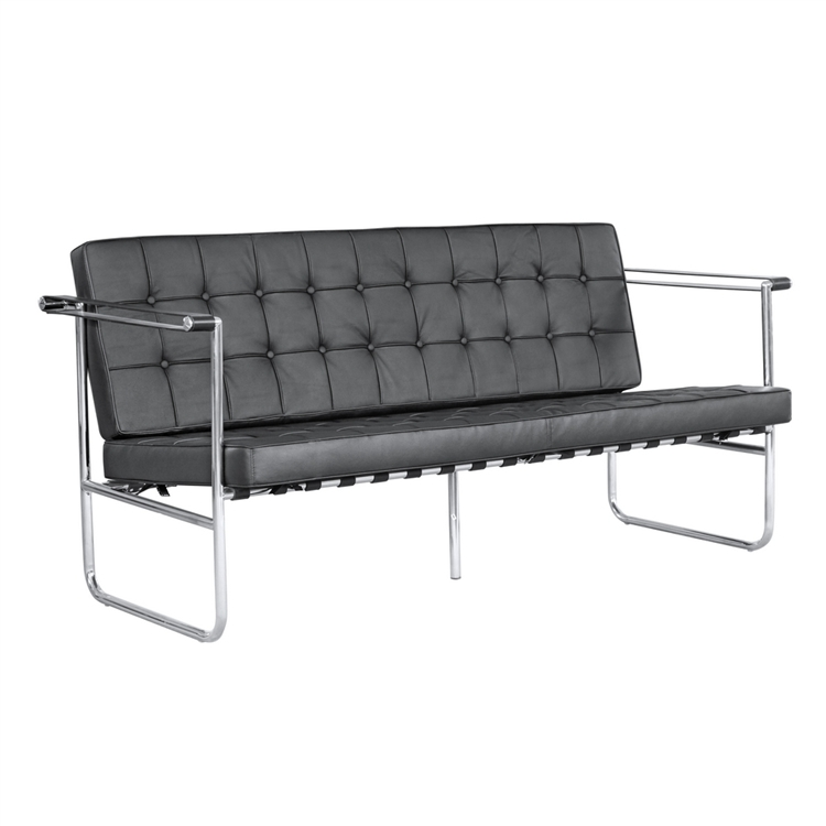 Black Quilted Sofa 1