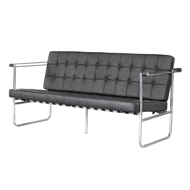 Black Quilted Sofa 4