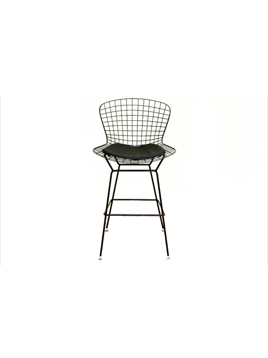 Black Wire Bar Stool Modern Furniture Brickell Collection
