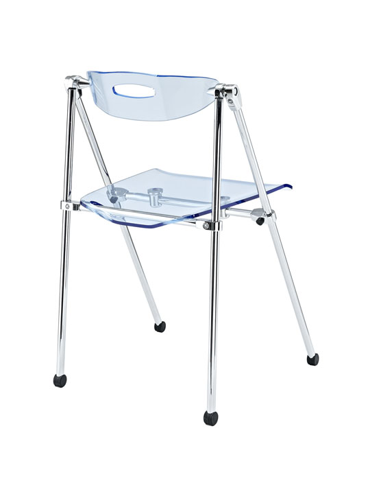 Blue Acrylic Folding Chair 3