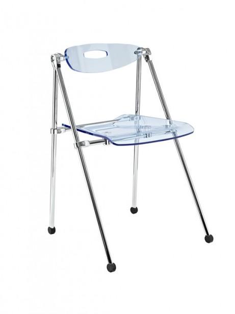 Blue Acrylic Folding Chair 461x614
