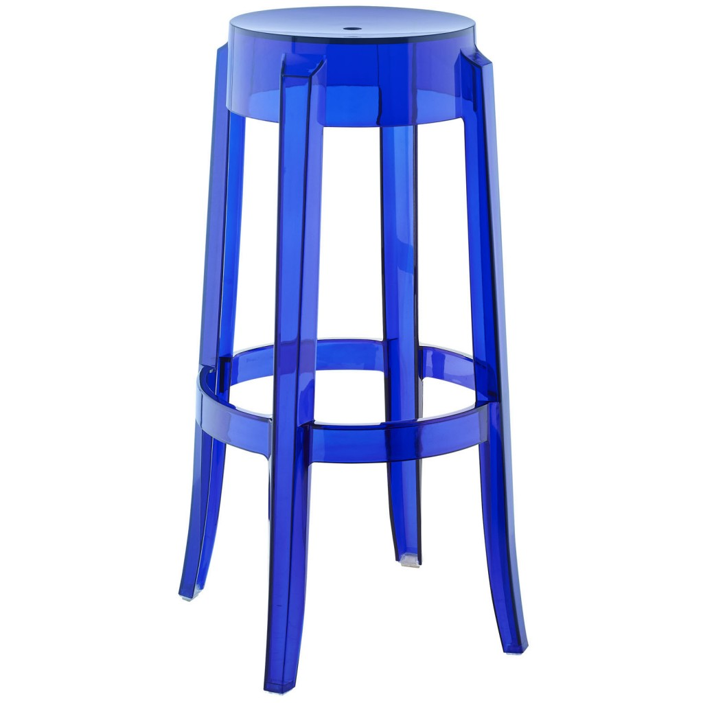 Clear Acrylic Barstool Brickell Collection Modern