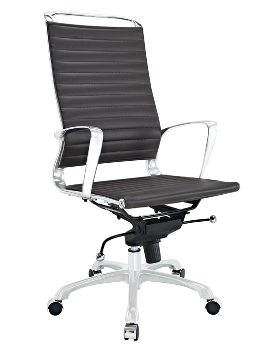 Brown Instant Planner High Back Office Chair