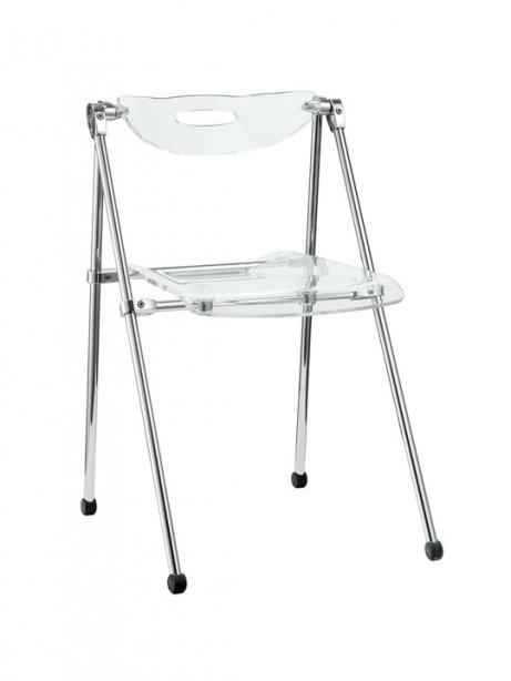 Clear Acrylic Folding Chair 461x614