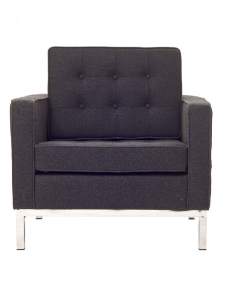 Dark Gray Bateman Wool Armchair 461x614