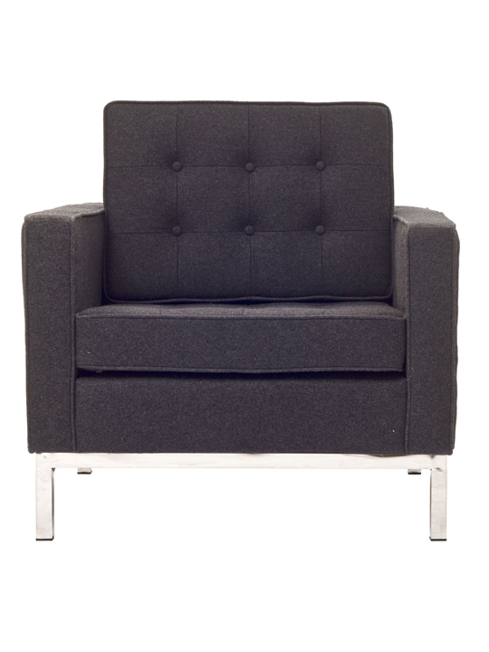 Dark Gray Bateman Wool Armchair
