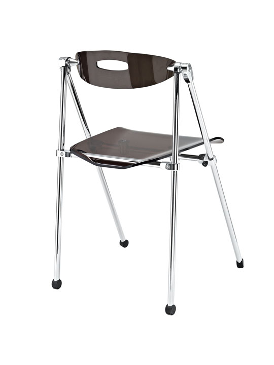 Gray Acrylic Folding Chair 3