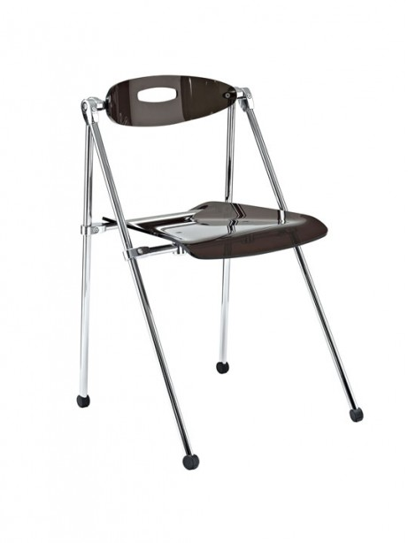 Gray Acrylic Folding Chair 461x614