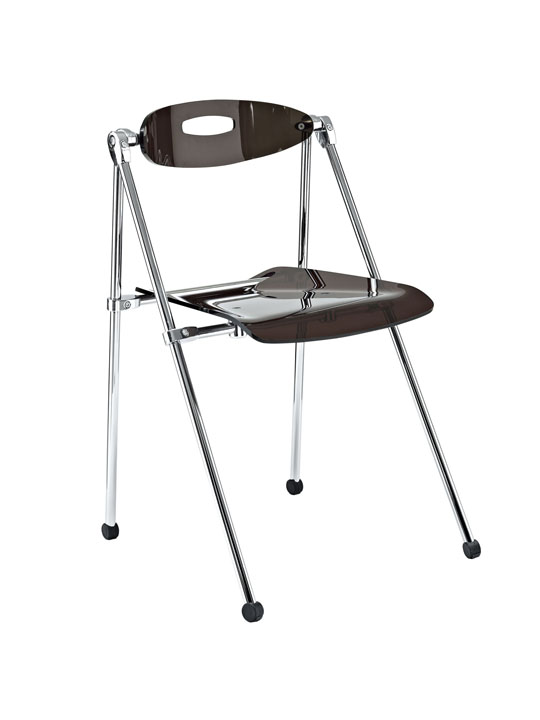 Gray Acrylic Folding Chair