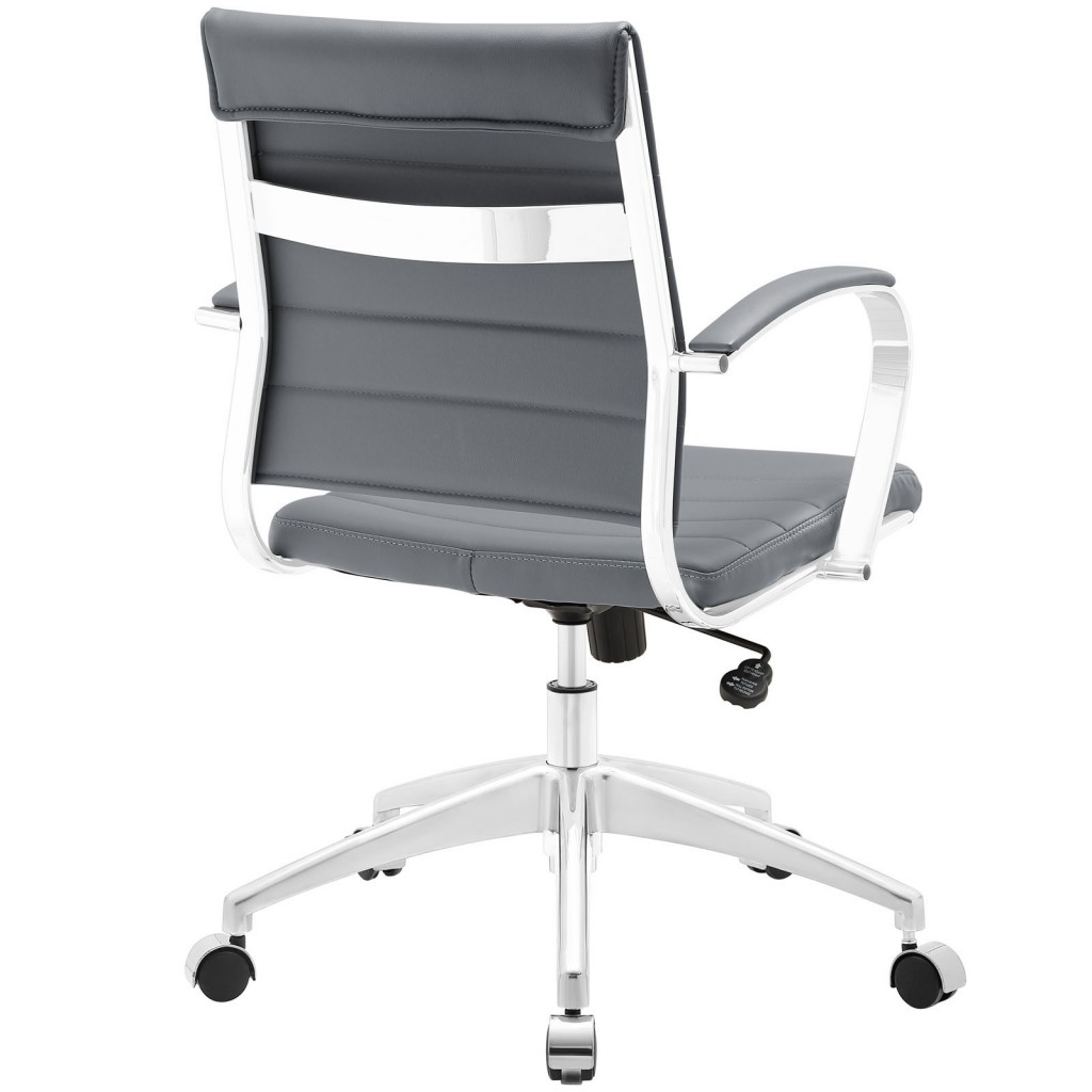 Gray Instant Operator Low Back Office Chair 3