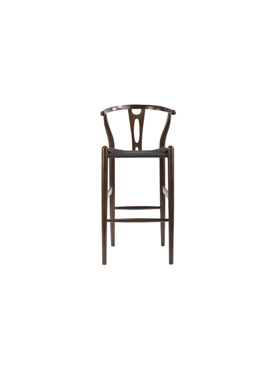 Hemp Barstool Dark Brown Black Seating 2