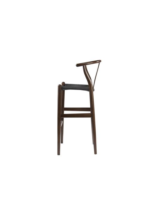 Hemp Barstool Dark Brown Black Seating 3