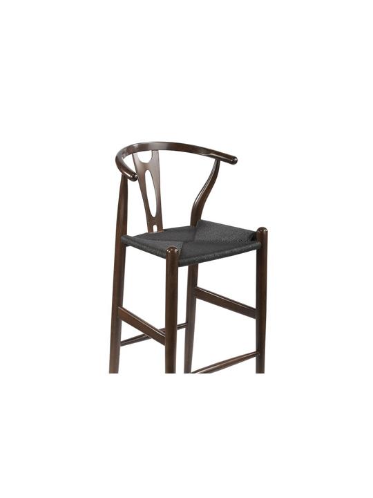 Hemp Barstool Dark Brown Black Seating 4