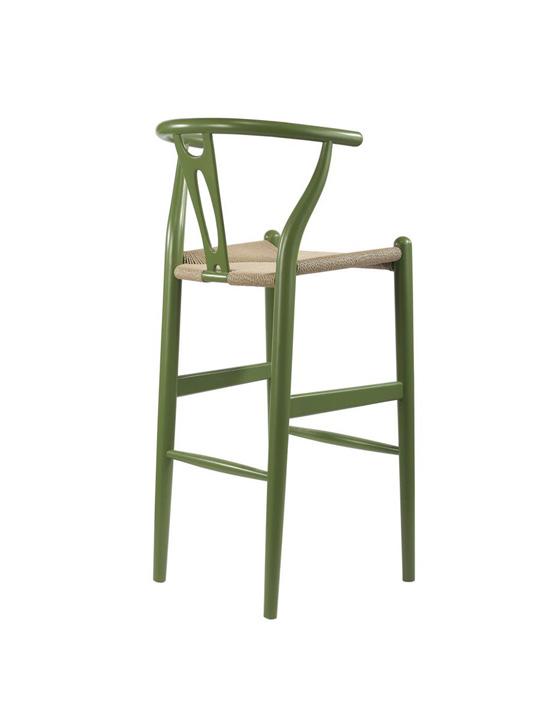 Hemp Barstool Green 4
