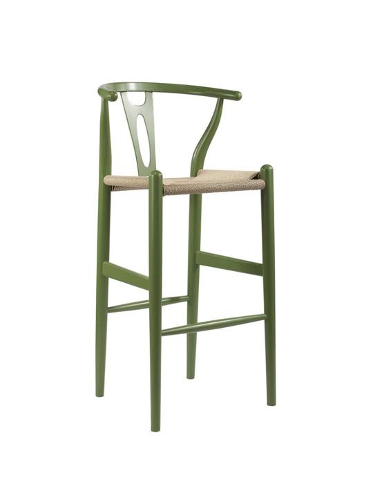 Hemp Barstool Green
