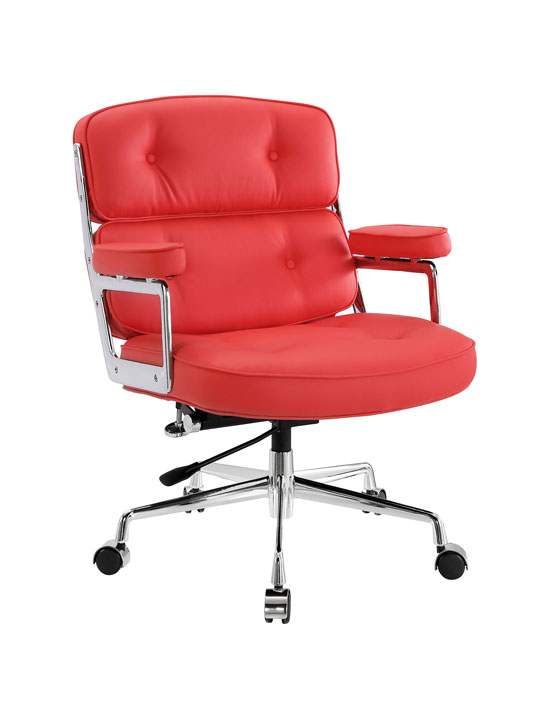 Instant Collaborator Red Leather Office Chair