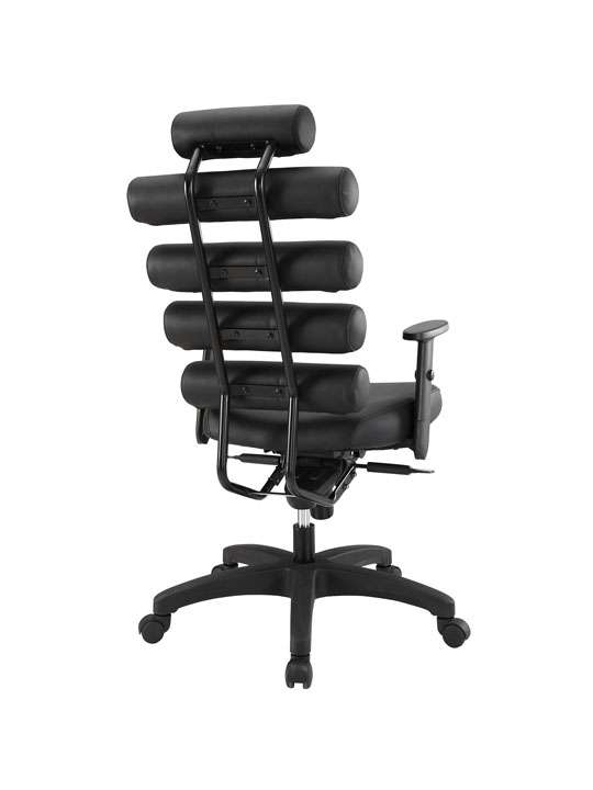 Instant Illustrator Black Leather Office Chair 3