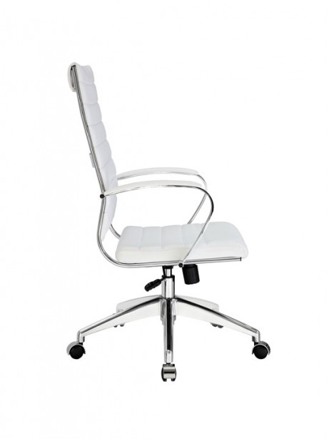 Instant Operator Office Chair White Leather 2 461x614