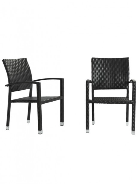 Moda Wicker Chair Espresso  461x614