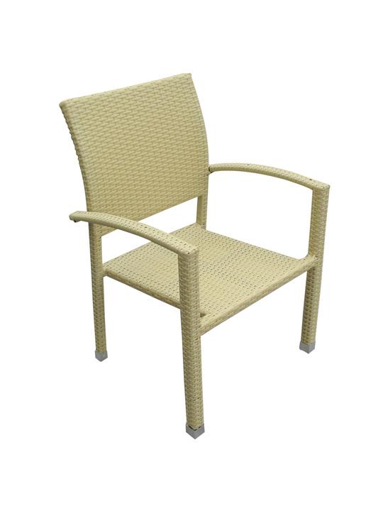 Moda Wicker Chair Tan 2