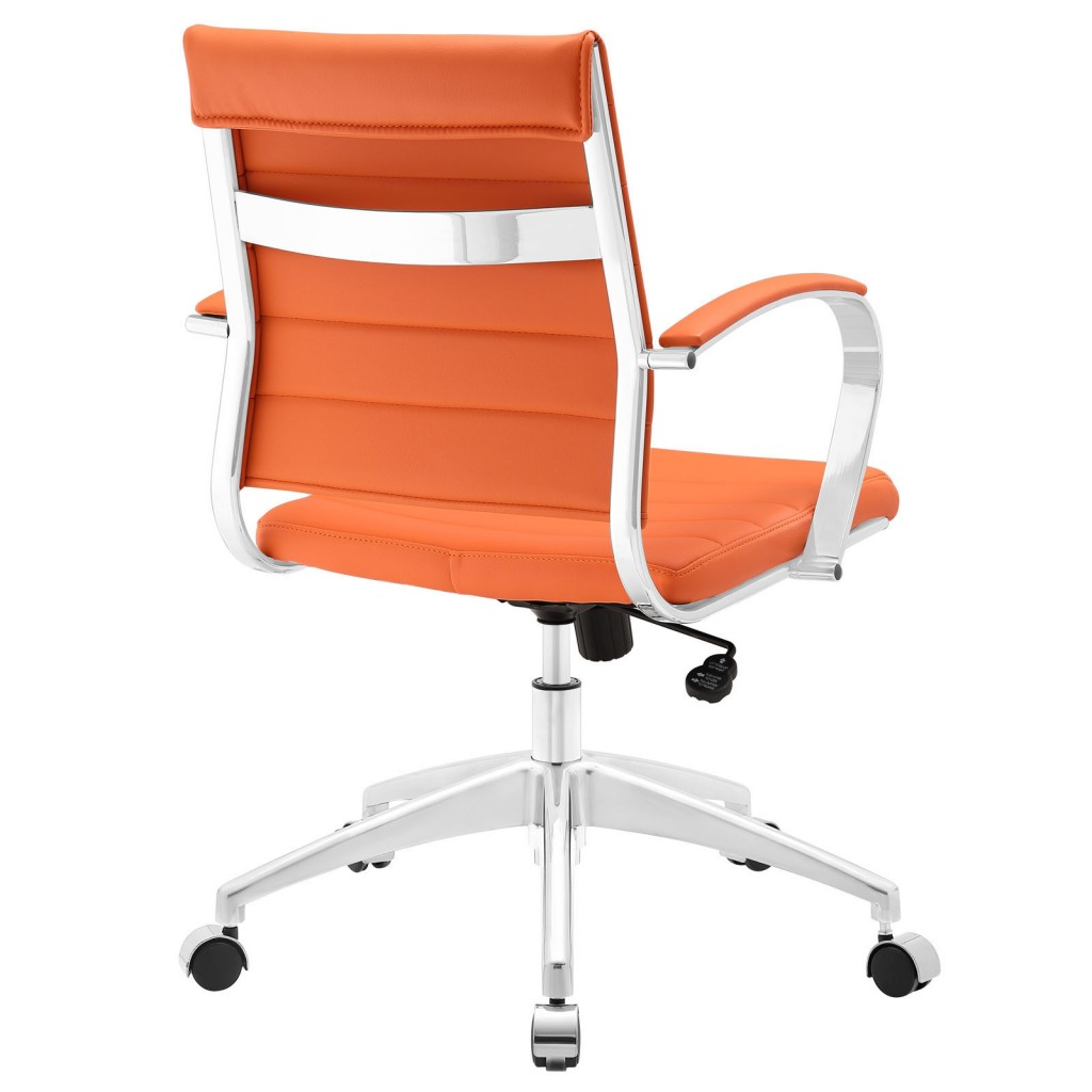 Orange Instant Operator Low Back Office Chair 3