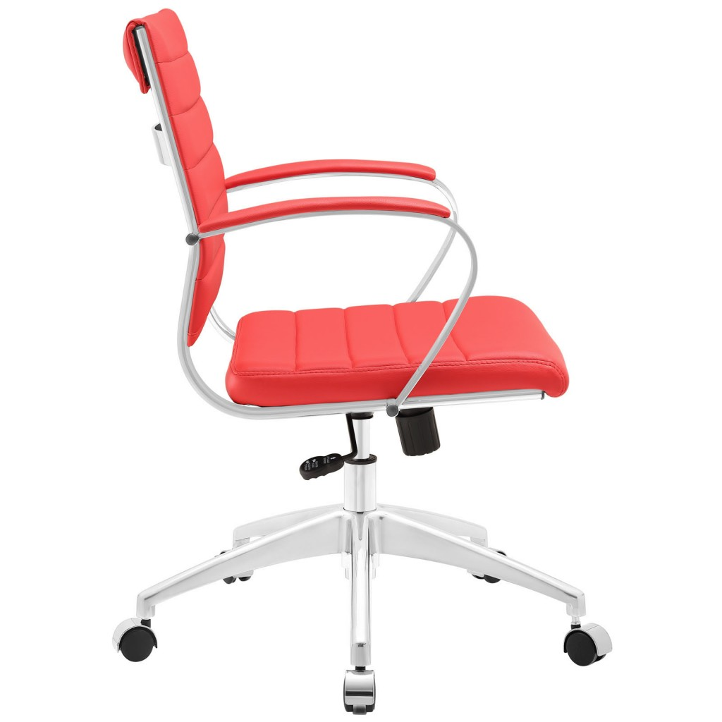 Red Instant Operator Low Back Office Chair 2