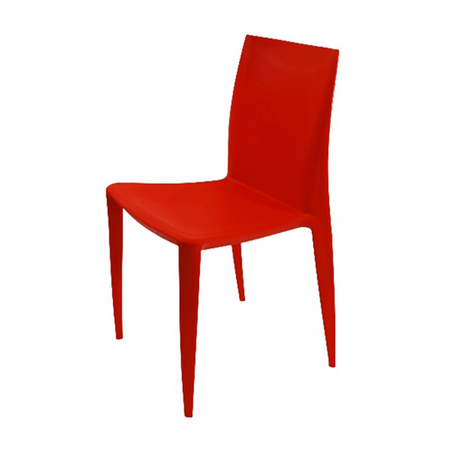 Red Plastic Simple Chair