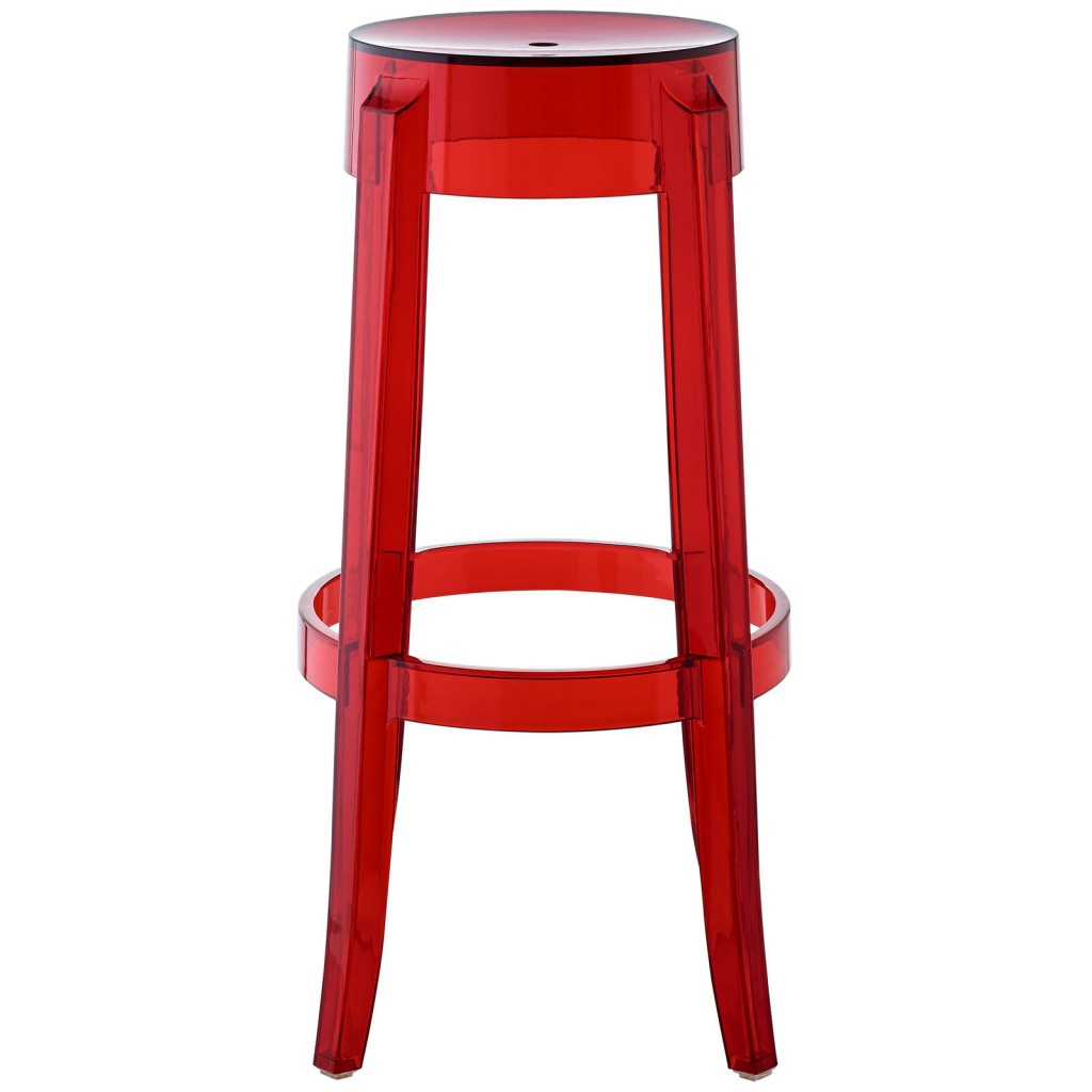 Red Transparent Acrylic Barstool 2
