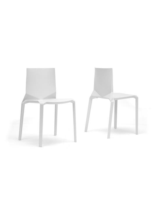 Symmetrical Chair White