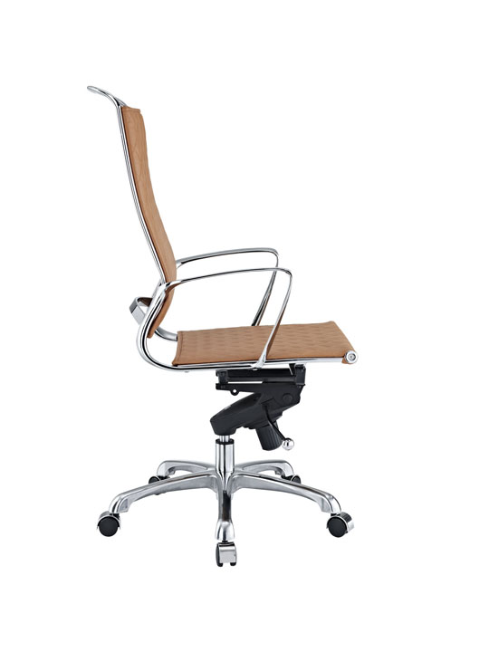 Tan Leather Coco High Back Office Chair 2