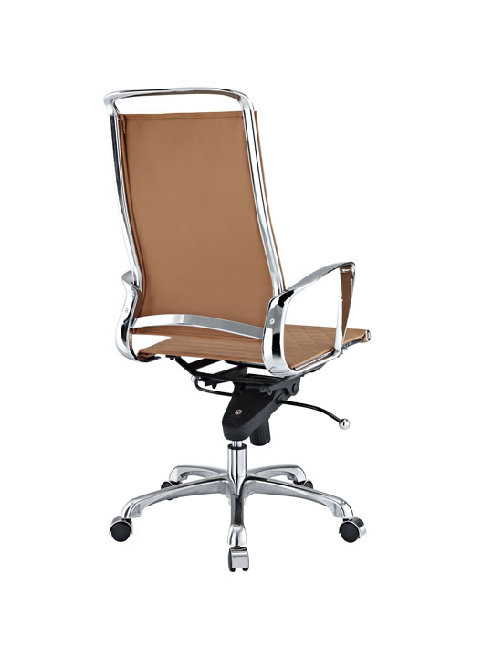 Tan Leather Coco High Back Office Chair 3