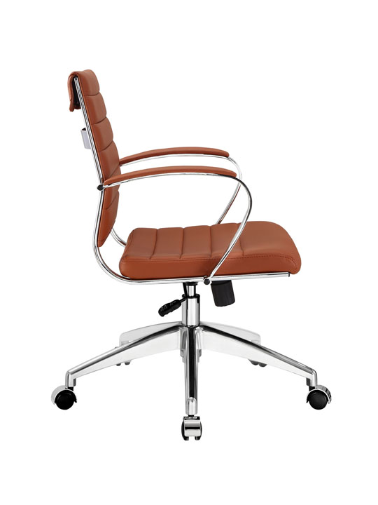 Tan Leather Instant Operator Low Back Office Chair 2