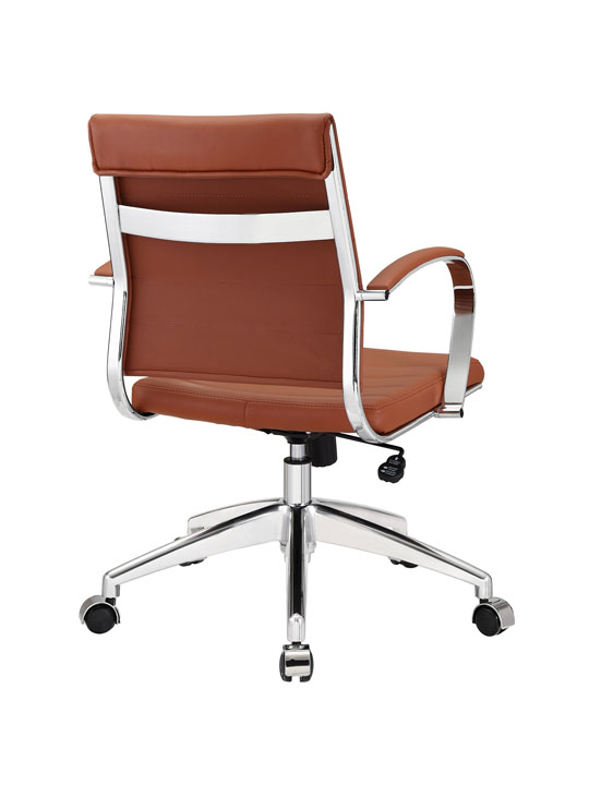 Tan Leather Instant Operator Low Back Office Chair 3