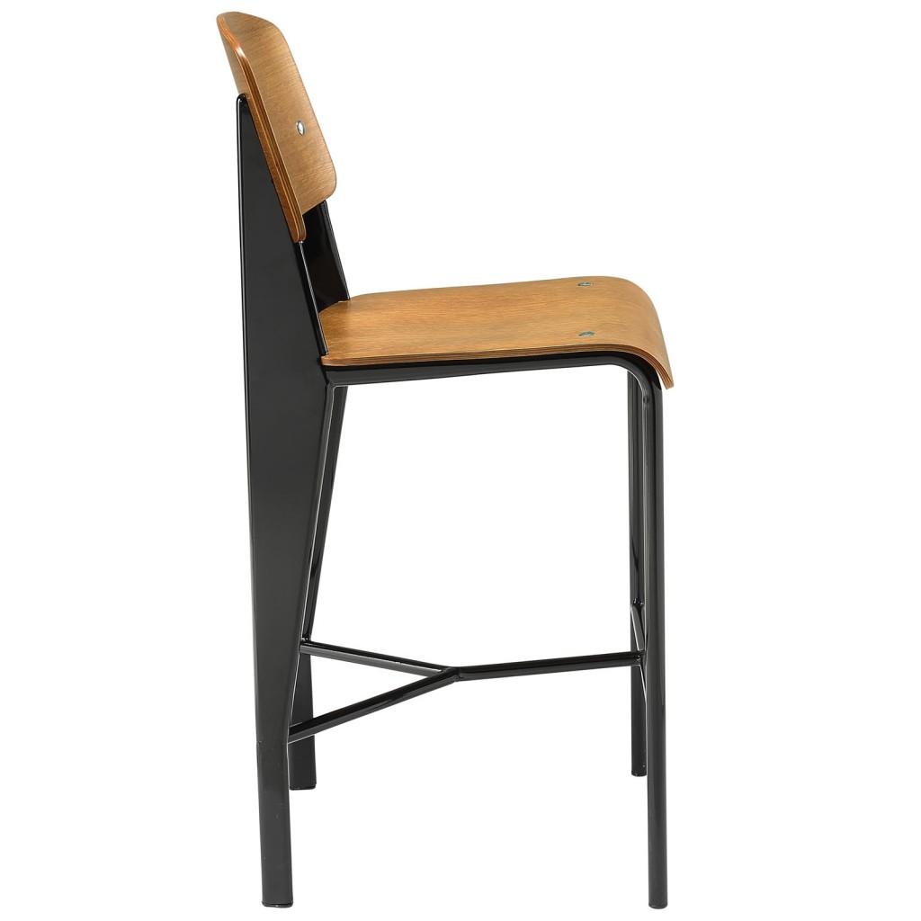 Walnut Wood Standard Barstool 1