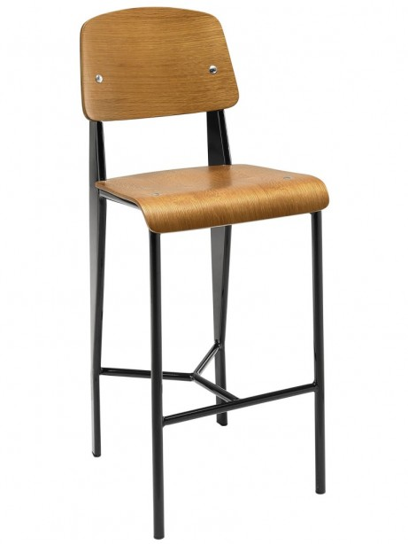 Walnut Wood Standard Barstool 461x614