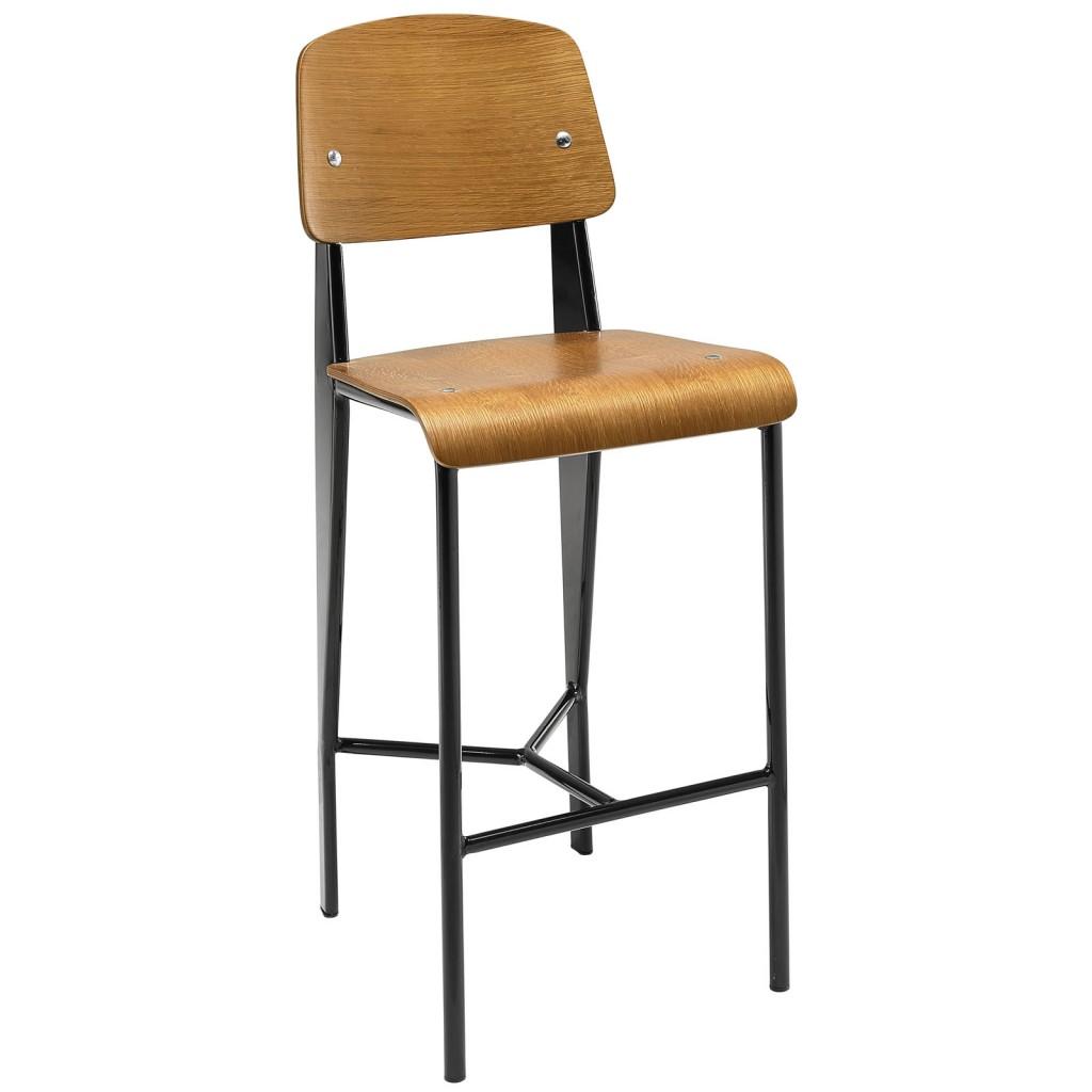Walnut Wood Standard Barstool