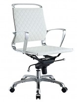 White Coco Low Back Office Chair 156x207