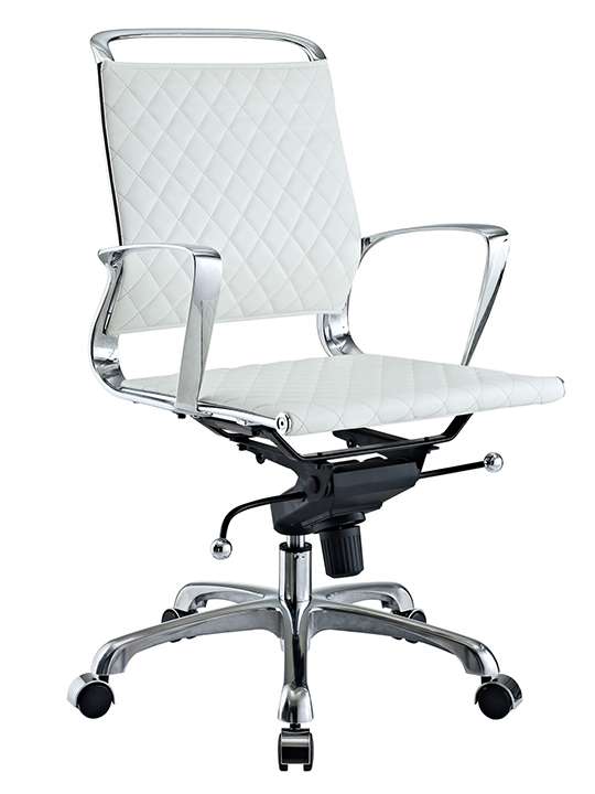 White Coco Low Back Office Chair
