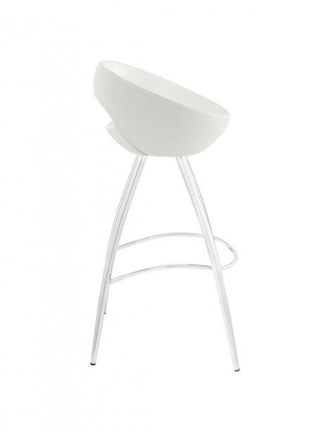 White Flower Pot Barstool 461x614