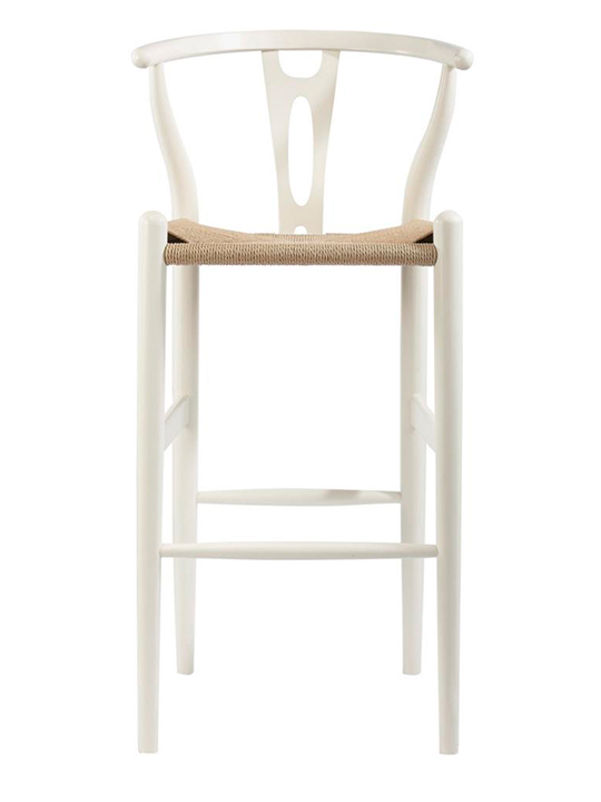 White Hemp Barstool