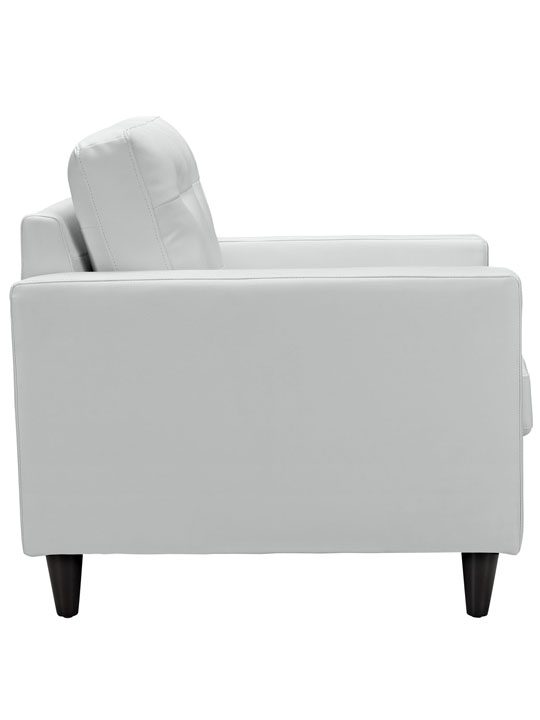 White Leather Bedford Armchair 3